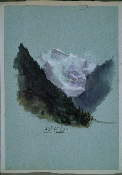 "Jungfrau (from ""Splendid Mountain Watercolours"" Sketchbook)"