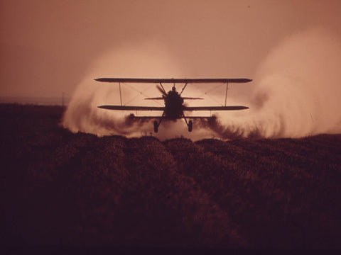 CROP DUSTER IN THE IMPERIAL VALLEY