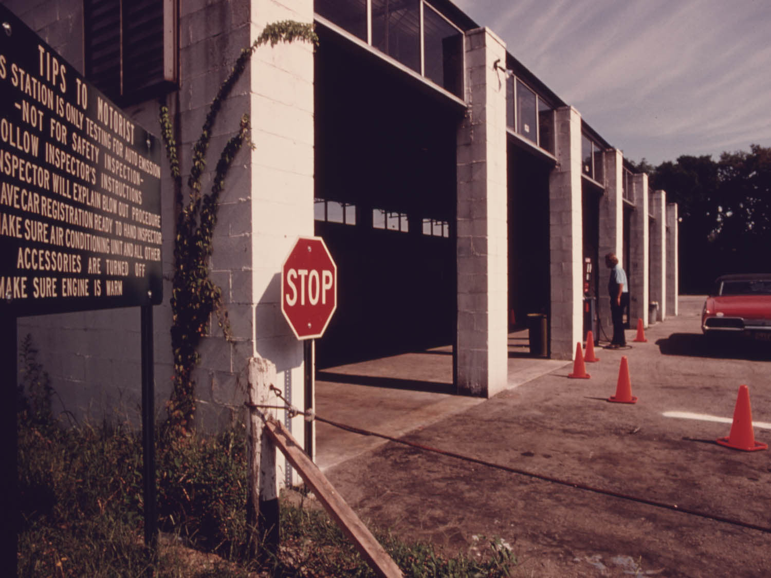 HAMILTON COUNTY AUTO EMISSION INSPECTION STATION IN THE VILLAGE OF NEWTOWN,  OHIO