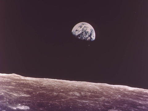 Earth as seen from the Moon, December 1971
