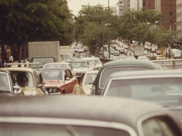 MONUMENTAL TRAFFIC JAMS RESULTED DURING A BUS STRIKE IN WASHINGTON, DISTRICT OF COLUMBIA, DURING MAY, 1974