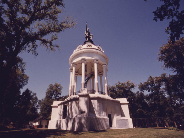 MONUMENT AND STATUE OF HERMANN-ARMINIUS, GERMAN PATRIOT WHICH WAS ERECTED IN NEW ULM, MINNESOTA, IN 1888.
