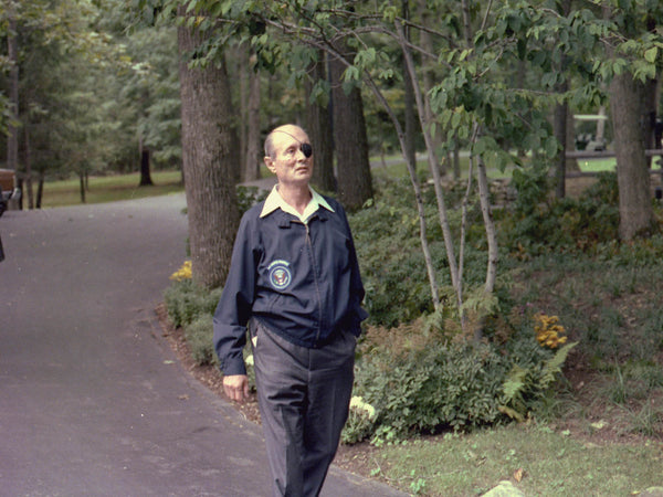 Moshe Dayan, Israeli Foreign Minister, at Camp David