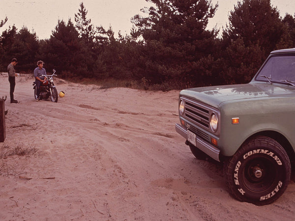 MOTORCYCLIST RECEIVES TICKET FOR RIDING ON THE NATIONAL SEASHORE PARK SAND DUNES