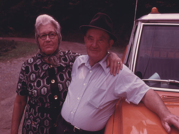 MR. AND MRS. BERRY HOWARD OF CUMBERLAND  KENTUCKY  AND THE NEW TRUCK HE JUST BOUGHT