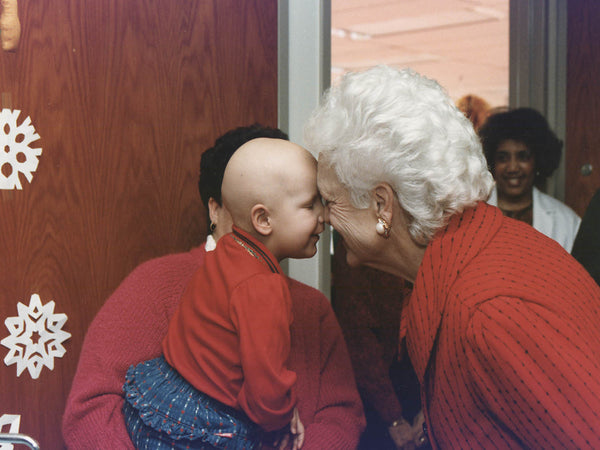 Mrs. Bush visits patients at Children's Hospital in Washington, D.C