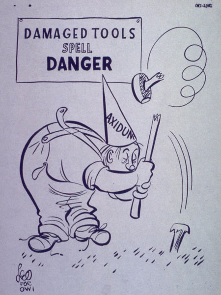 Axidunce cartoon - Damaged tools spell danger