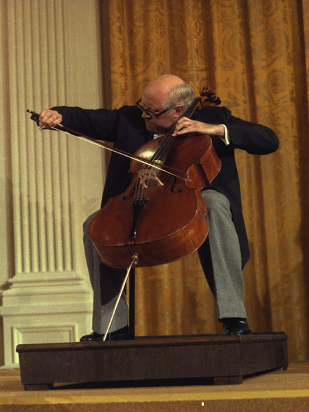 Mstislav Rostropovich performs at the White House