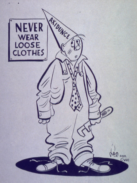 Axidunce cartoon - Never wear loose clothes