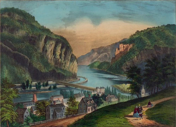 View of Harpers Ferry Va.: (from the Potomac side.)