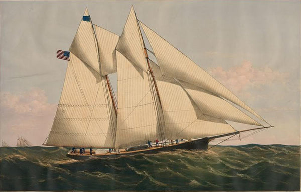 "The yacht ""Henrietta"" 205 tons: modelled by Mr. Wm. Tooker N.Y. built by Mr. Henry Steers Greenpoint L.I."
