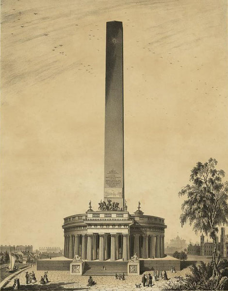 Design of the original Washington Monument