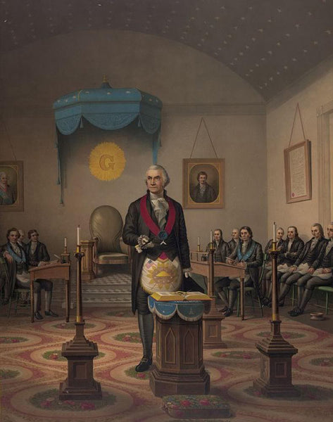 Washington as a master Mason