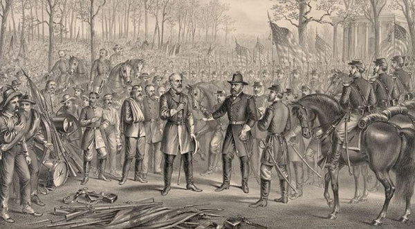 Capitulation & surrender of Robt. E. Lee & his army at Appomattox Chi. Va. to Lt. Genl. U.S. Grant. April 9th 1865