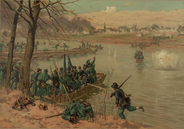 Laying the pontons at Fredericksburg