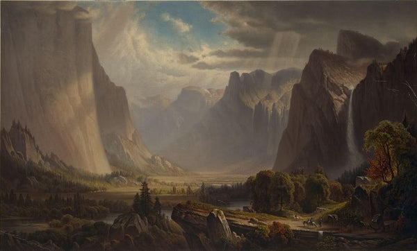 Yosemite valley. After painting by Thomas Hill