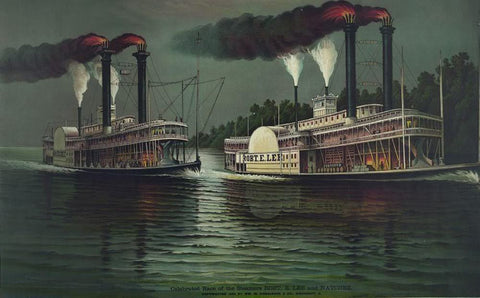 Celebrated race of the steamers Robt. E. Lee and Natchez