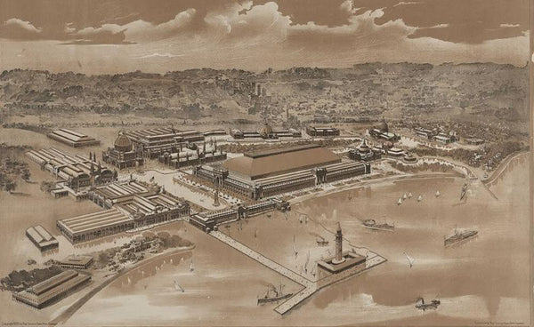 World's Columbian Exposition Chicago 1893 (Bird's-eye view)