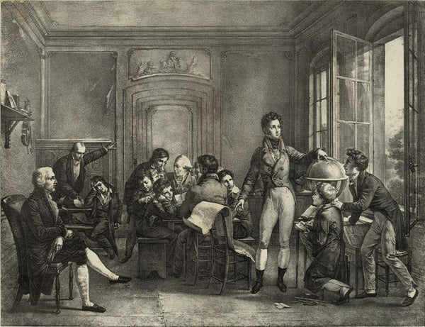 Louis Philippe at the College of Reichenay teaching geography