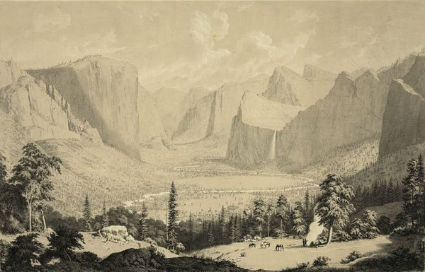 General view of the great Yosemite Valley