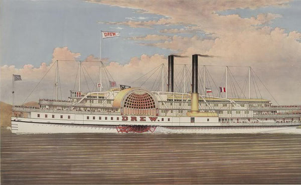 People's line Hudson River the palace steamers of the world Drew--St. John--Dean Richmond: leaving New York daily (Sunday's excepted) at 6 p.m. & Albany at 8 p.m. making close connections with trains North & West