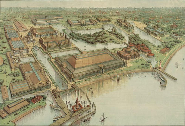 Rand McNally & Co.'s continental view of the World's Columbian exposition Chicago U.S.A. 1893