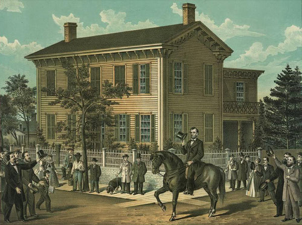 Abraham Lincoln's return home after his successful campaign for the Presidency of the United States in October 1860