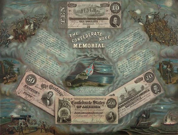 The Confederate note memorial