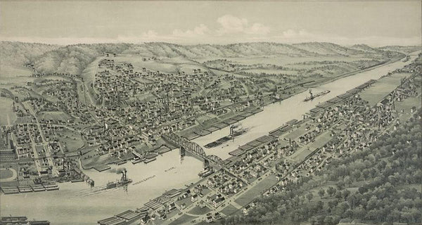 Elizabeth and West Elizabeth Allegheny County Pennsylvania 1897
