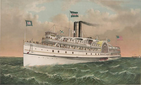 Providence and Stonington Steamship Co's. steamer Rhode Island: of the Providence and Stonington lines