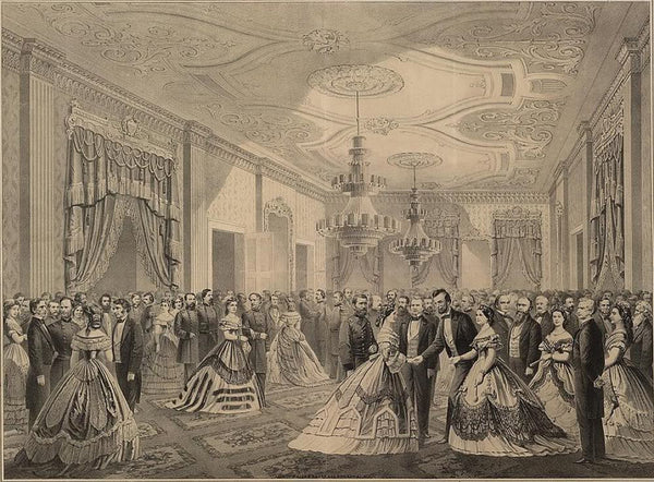 Grand reception of the notabilities of the nation at the White House 1865