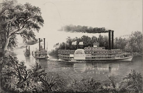 Rounding a bend on the Mississippi: the parting salute