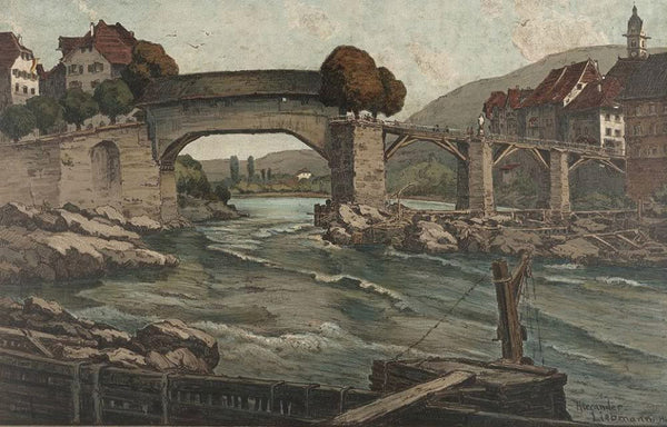 Old Rhine bridge near Laufenburg