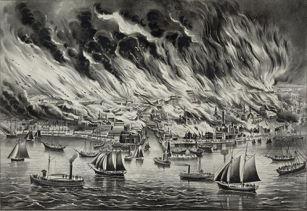 The great fire at Chicago Octr. 8th 1871