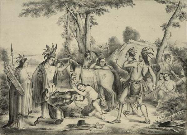 Smith rescued  by Pocahontas