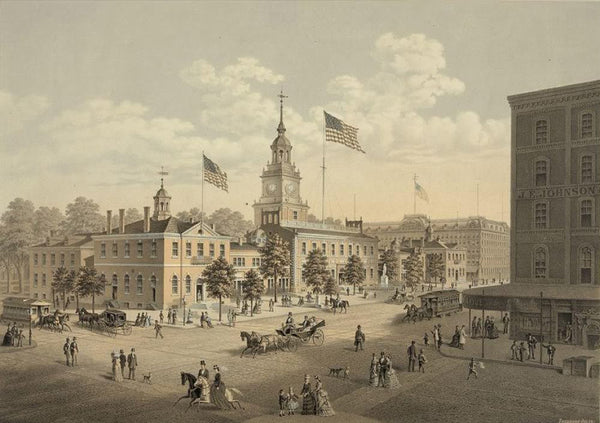 Independence Hall. Philadelphia 1876