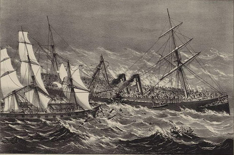 The sinking of the steamship Ville du Havre