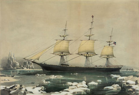 "Clipper ship ""Red Jacket"": In the ice off Cape Horn on her passage from Australia to Liverpool August 1854"