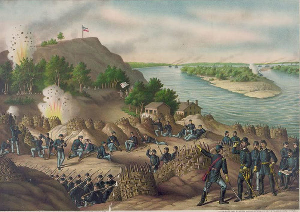 Siege of Vicksburg--13 15 & 17 Corps Commanded by Gen. U.S. Grant assisted by the Navy under Admiral Porter--Surrender July 4 1863