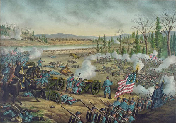 Battle of Stone River Near Murfreesborough Tenn.--Dec. 31 62. Jan. 2-3 1863--Union (Gen. Rosecrans) ... Conf. (Gen. Bragg) ...