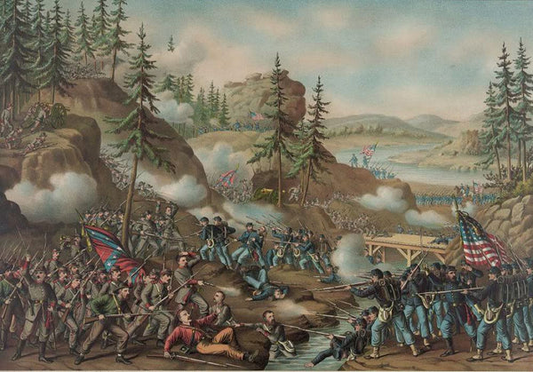 Battle of Chattanooga--Gen. Thomas' charge near Orchard Knob Nov. 24' 1863--parts A.O.T. Potomac Tenne. & Cumbd. engaged
