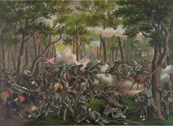 Battle of the Wilderness--Desperate fight on the Orange C.H. Plank Road near Todd's Tavern May 6th 1864