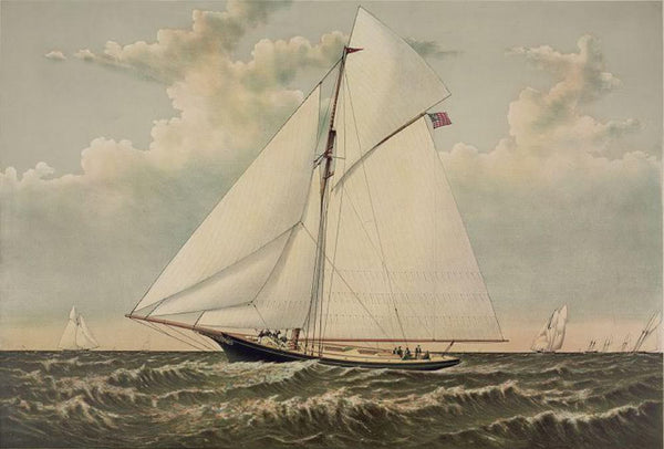 "A ""Crack"" sloop in a race to windward: Yacht Gracie of New York"