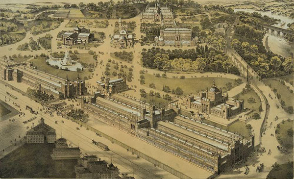 View of the ground and buildings International Exhibition 1876 Fairmount Park Philadelphia