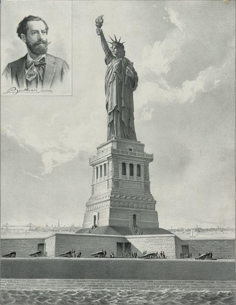 The Bartholdi Statue--Bedloe's Island New York Harbor--Presented to the United States by citizens of France