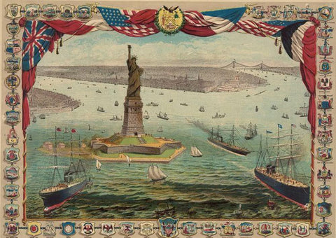 The gift of France to the American people the Bartholdi colossal statue Liberty enlightening the world