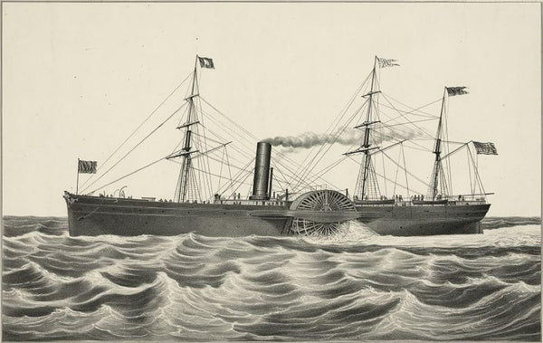 U.S. mail steam ship Arctic: Collin's line builders hull by Wm. H. Brown N.Y. engines by Stillman Allen & Co. Novelty Works N.Y.