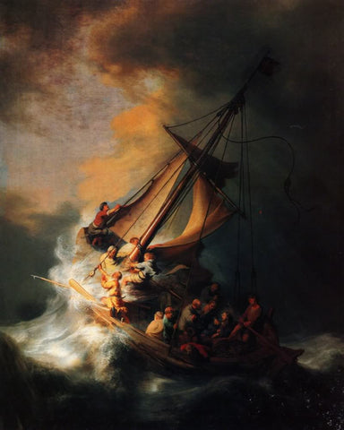 The Storm on the Sea of Galilee (1633) by Rembrandt