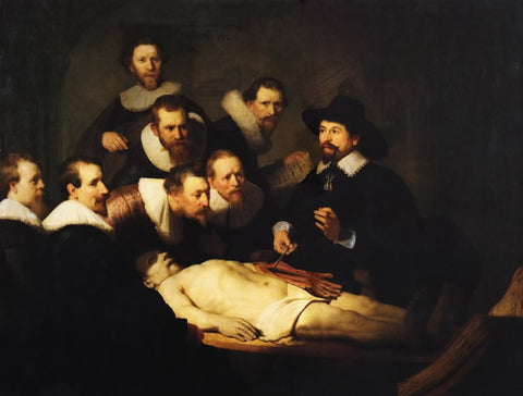 The Anatomy Lesson of Dr. Nicolaes Tulp (1632) by Rembrandt