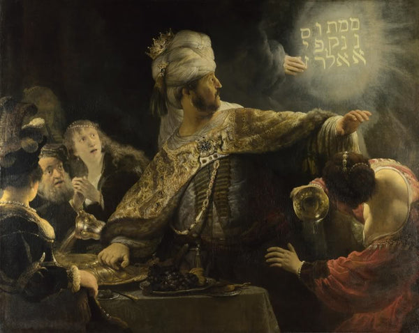 Belshazzar's Feast (1635) by Rembrandt